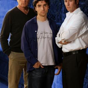 Still of Rob Morrow, Judd Hirsch and David Krumholtz in Numb3rs (2005)