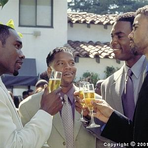 Celebrating friendship, Jackson (Morris Chestnut,) Derrick (D.L. Hughley,) Brian (Bill Bellamy) and Terry (Shemar Moore) make a toast to their future