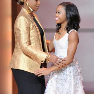 Mary J. Blige and Gabby Douglas