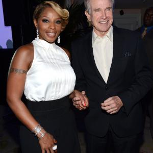 Warren Beatty and Mary J. Blige