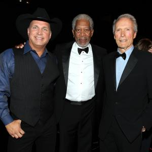 Clint Eastwood, Morgan Freeman, Garth Brooks