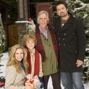 Still of Henry Winkler, Brooke Burns, Connor Christopher Levins and Warren Christie in The Most Wonderful Time of the Year (2008)