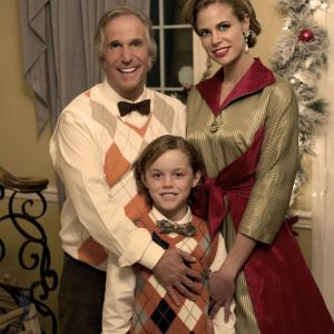 Still of Henry Winkler, Brooke Burns and Connor Christopher Levins in The Most Wonderful Time of the Year (2008)