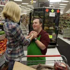 Still of Brooke Burns and David DeSanctis in Where Hope Grows (2014)