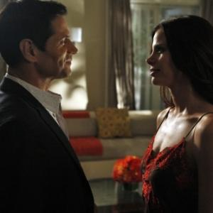 Still of Brooke Burns and Thomas Calabro in Melrose Place (2009)