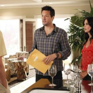 Still of Courteney Cox and Josh Hopkins in Cougar Town 2009