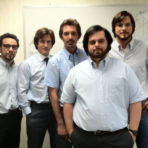 Dermot Mulroney, Lukas Haas, Ashton Kutcher, Victor Rasuk and Josh Gad in Jobs (2013)