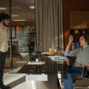 Ashton Kutcher and Josh Gad in Jobs (2013)