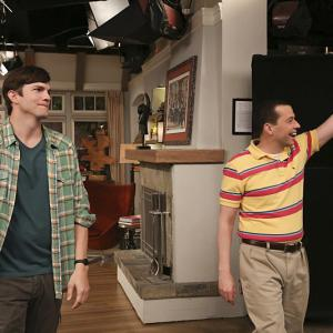 Jon Cryer and Ashton Kutcher in Two and a Half Men (2003)