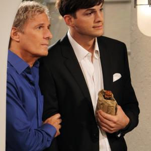 Ashton Kutcher and Michael Bolton in Two and a Half Men (2003)