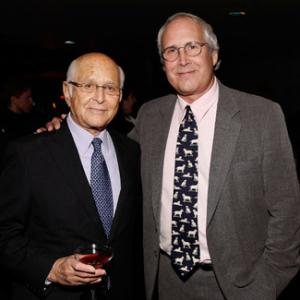 Chevy Chase and Norman Lear