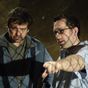 Angus Macfadyen and Darren Lynn Bousman in Saw III 2006