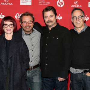 Megan Mullally, David Courier, Nick Offerman, John Cooper