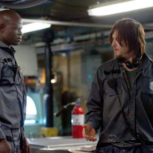 Still of Djimon Hounsou and Norman Reedus in Air (2015)