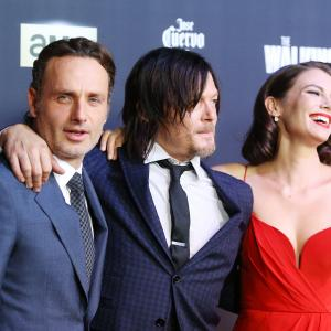 Norman Reedus, Andrew Lincoln and Lauren Cohan at event of Vaiksciojantys negyveliai (2010)