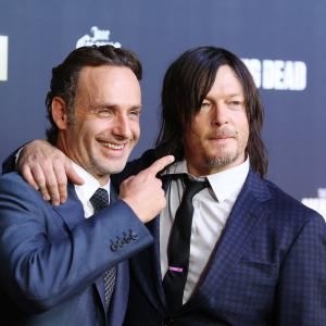 Norman Reedus and Andrew Lincoln at event of Vaiksciojantys negyveliai (2010)