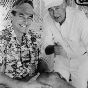 Still of Mark Harmon and Carl Reiner in Summer School (1987)