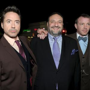 Robert Downey Jr., Guy Ritchie, Joel Silver