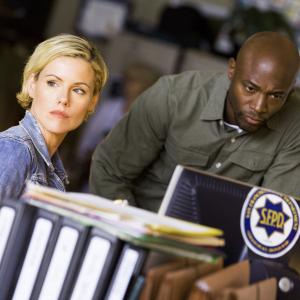 Still of Taye Diggs and Kathleen Robertson in Murder in the First 2014