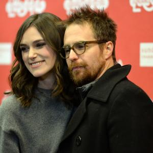 Sam Rockwell and Keira Knightley at event of Laggies (2014)