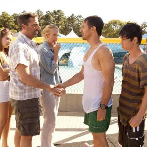Still of Toni Collette, Sam Rockwell, Steve Carell, Liam James and Zoe Levin in The Way Way Back (2013)