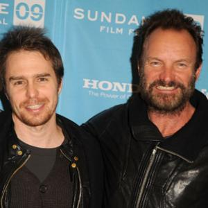 Sting and Sam Rockwell