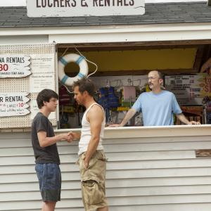 Still of Sam Rockwell, Liam James and Jim Rash in The Way Way Back (2013)