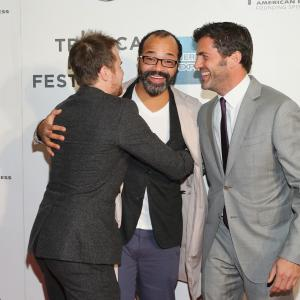 Sam Rockwell, Jeffrey Wright and David M. Rosenthal at event of A Single Shot (2013)
