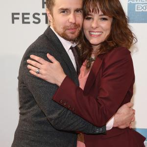 Parker Posey and Sam Rockwell at event of A Single Shot (2013)