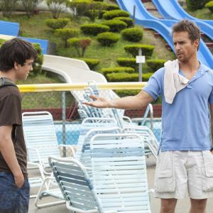 Still of Sam Rockwell and Liam James in The Way Way Back (2013)