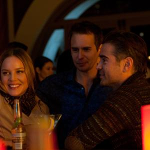 Still of Sam Rockwell, Abbie Cornish and Colin Farrell in Septyni psichopatai (2012)