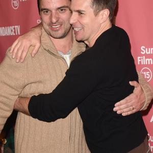 Sam Rockwell and Jake Johnson at event of Digging for Fire (2015)