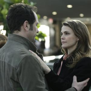 Still of Keri Russell and Matthew Rhys in The Americans 2013