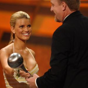 Jessica Simpson and Curt Schilling at event of ESPY Awards 2005