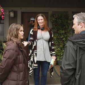 Still of Kerr Smith, Aprill Winney and Maia Mitchell in The Fosters (2013)