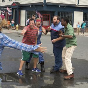Still of Adam Sandler Chris Rock David Spade and Kevin James in Nebrendylos 2 2013