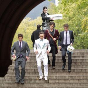 Still of Desmond Harrington, Michelle Trachtenberg, Penn Badgley, Chace Crawford and Ed Westwick in Liezuvautoja: New York, I Love You XOXO (2012)