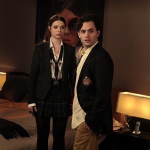 Still of Michelle Trachtenberg and Penn Badgley in Liezuvautoja (2007)