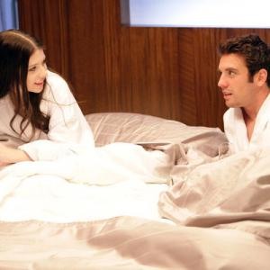 Still of Michelle Trachtenberg and Bret Harrison in Love Bites (2011)