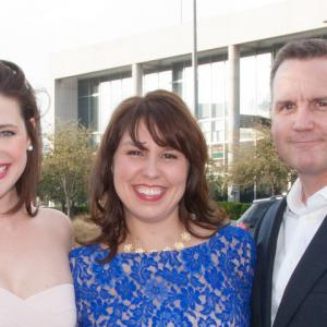 Katy Rowe, Rachel Sheperd, Brent Anderson, 2014 Dallas International Film Festival opening night red carpet