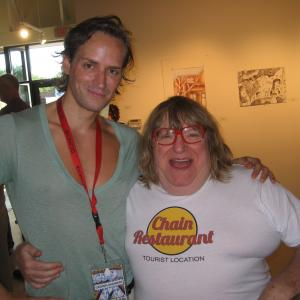 Casper Andreas and Bruce Vilanch at the QCinema Film Festival in Fort Worth, TX, May 2011.
