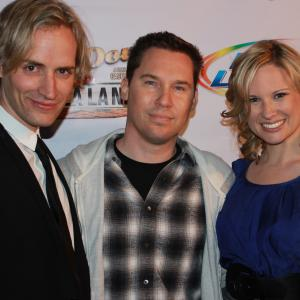 Casper Andreas, Bryan Singer and Allison Lane at the Los Angeles premiere of GOING DOWN IN LA-LA LAND, May 2012.
