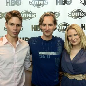 Matthew Ludwinski, Casper Andreas, and Allison Lane at Outfest for the Los Angeles premiere of