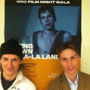Casper Andreas and Matthew Ludwinski at the screening of GOING DOWN IN LALA LAND at the Aspen Gay Ski Week Feb 2012