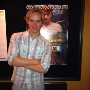 Director Casper Andreas at the opening of GOING DOWN IN LA-LA LAND at Biograf Zita in Stockholm, Sweden, August 2012.