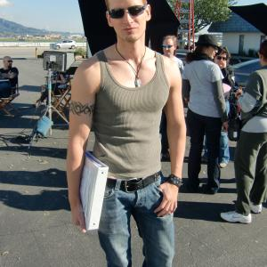 Director Casper Andreas on the set of