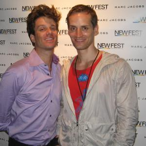 Jesse Archer and Casper Andreas at Newfest, New York, June 2010.