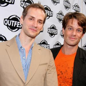 Casper Andreas and Jesse Archer at Outfest, Los Angeles July 2010.