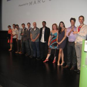 Director Casper Andreas with cast and crew at the New York premiere of