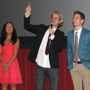Angelina Hong, Casper Andreas, and Matthew Ludwinski at the opening night screening of GOING DOWN IN LA-LA LAND at the Chinese Theaters in Los Angeles, May 2012.